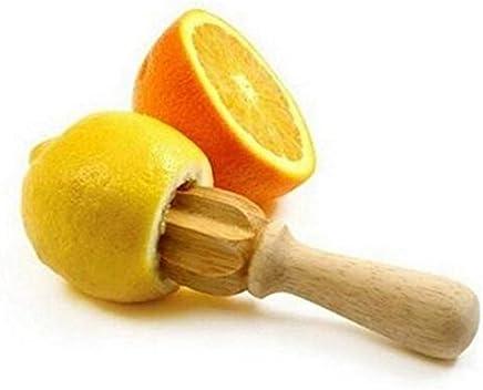Funnytoday365 Wooden Lemon Squeezer Mini Juicer Fruit Orange Citrus Juice Extractor Reamer