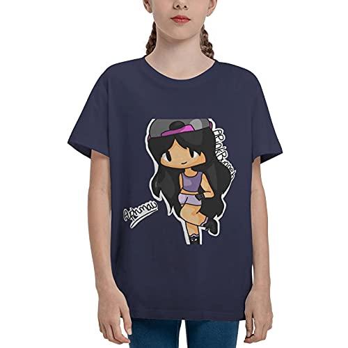 Junge Mädchen Jungen Ap-h-m-au Short Sleeve Crew Neck T-Shirt für Jungen