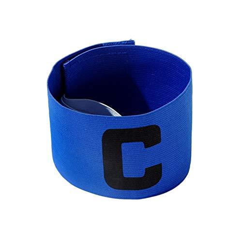 K-Park Brazalete elástico ajustable del capitán de la goma del brazalete de la forma de la bobina del tipo C para el fútbol, el baloncesto, el béisbol y otros deportes partido de la diversión