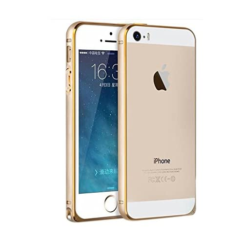 185ecfff758adc SDO Luxury Screwless Dual Tone Arc Edge Bumper Case for Apple iPhone 4 4s  (Golden