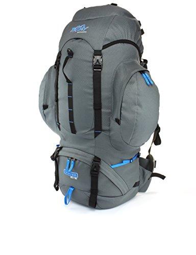 Sac à dos trekking Tashev Vihren 70 + 10 litres de volume supplémentaire (Gris & bleu)
