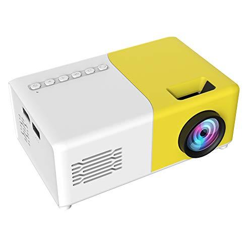 Proyector de teléfono portátil pequeño color LED mini proyector con HDMI USB AV interfaces y control remoto para regalo de niños, video, juegos de fiesta, al aire libre y entretenimiento (EU)