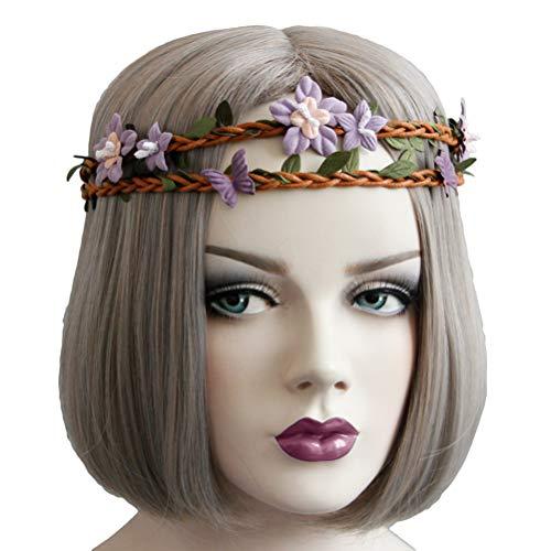 Leaf Vine hoofdband paars bloem haarband verstelbare band hoofdband voor festival party