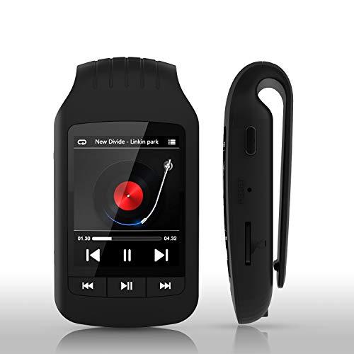 HOTT A505 MP3-Player mit Bluetooth-Clip für Sport, 40 GB Musik-Player Verlustfreie Soundunterstützung FM-Radiorecorder Stoppuhr Schrittzähler