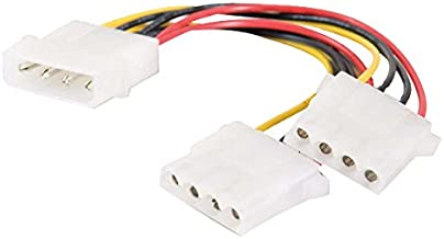 C2G 03166 One 5.25 Inch to Two 5.25 Inch Internal Power Y-Cable, Multi-Color (6 Inch)