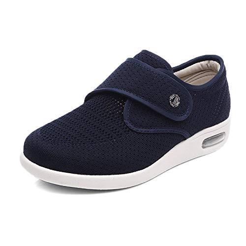 ZZLHHD Zapatos de Madre de Talla Grande para Primavera y Verano, Zapatos para Caminar Ajustables con hinchazón del pie-40_Blue