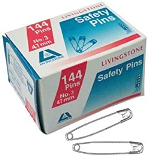 LIVINGSTONE SAFETY PINS NO.3, 51MM, 144 PINS/PACK