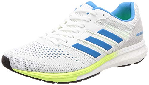 adidas Women's Adizero Boston 7 W Running Shoes, White (FTWR White/Shock Cyan/Hi/Res Yellow FTWR White/Shock Cyan/Hi/Res Yellow), 6 UK