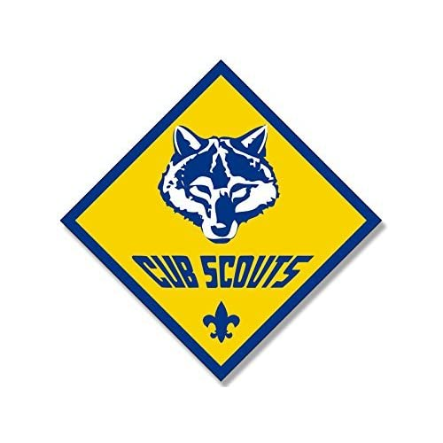 Amazoncom Diamond Shaped Cub Scout Logo Sticker Scouting American