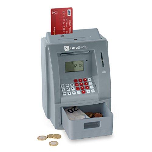 balvi-EuroBankGeldautomat-Spardose.AutomatischerMünzzähler.WirdmitDREIAAA-Batterienbetrieben.