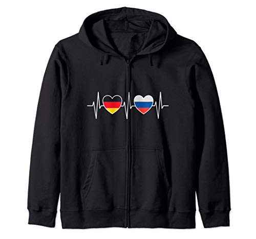 Deutschland Russland Russisch Flaggen Flagge Fahnen Russen Kapuzenjacke