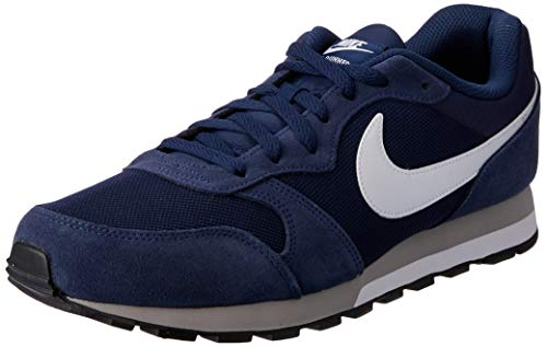 Nike MD Runner 2, Baskets mode homme - Bleu (Midnight Navy/White-Wolf Grey 410), 43 EU