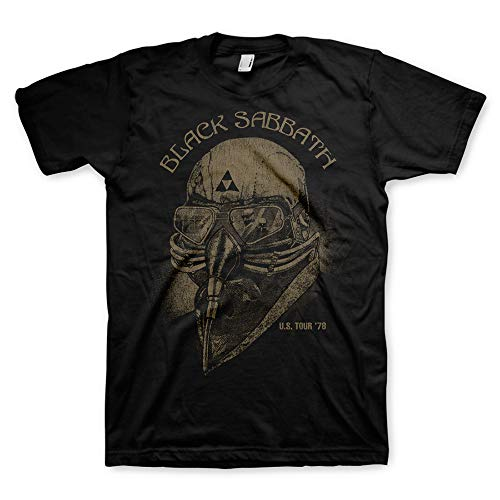 Bravado Men's Black Sabbath Tour '78 T Shirt,Black,Medium