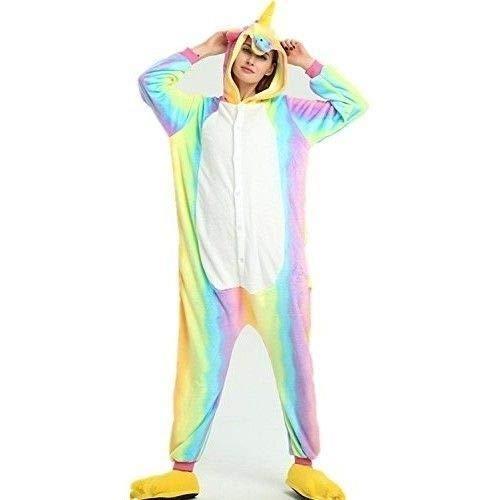 KRAZY TOYS Pijama Animal Entero Unisex para Adultos como Ropa de Dormir-Traje de Disfraz para Festival de Carnaval (Uniconio, M/L)