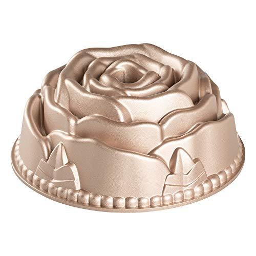 Erreke – Molde para Tartas, Antiadherente, Moldes Repostería, en Aluminio Fundido Muy Resistente, Color Oro Rosa, Diámetro 24cm, Rosa