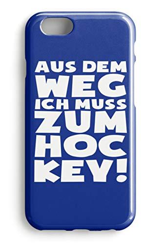 shirt-o-magic Handyhülle Hockey-Fan: Ich muss zum Hockey - Case -iPhone 7 Plus-Royal Blau