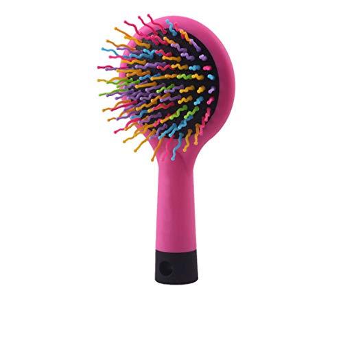 WDSFT 2pcs Peigne, Long, épais, bouclés, ondulés, secs ou abîmés, Cheveux Réduction de la Rupture et crépus, No More Tangle (Color : Pink)