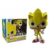 Figuras Pop Sonic Vinyl Dolls 287 # Super Sonic Collectible Model Action Figure 10Cm, PVC Toy para Niños Regalo De Cumpleaños