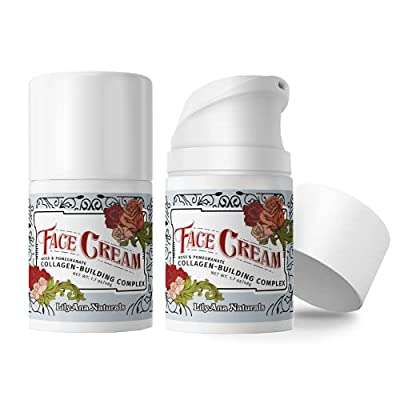 Face Cream Moisturizer for Women - Anti-Aging Wrinkle Cream for Face, Face Moisturizer For Dry Skin, Dark Spot Brightening, Rose and Pomegranate Extracts - 1.7oz - 2 Pack by LilyAna Naturals