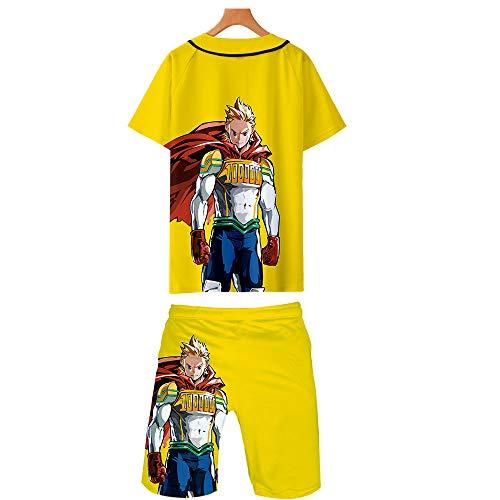 Preisvergleich Produktbild WOONN Shorts und Kurze Ärmel,  Hero Academy-Shorts mit Anime-Print eignen Sich für Sport,  Freizeit und Pyjamas