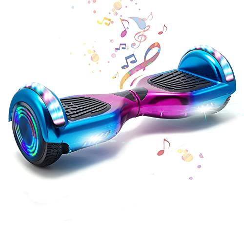 HappyBoard 6,5 Pollici Hoverboard Monopattini Elettrici Autobilanciati Scooter Elettrico Autobilanciante, Ruote da Skateboard con Luce a LED, Motore 700 W Bluetooth...