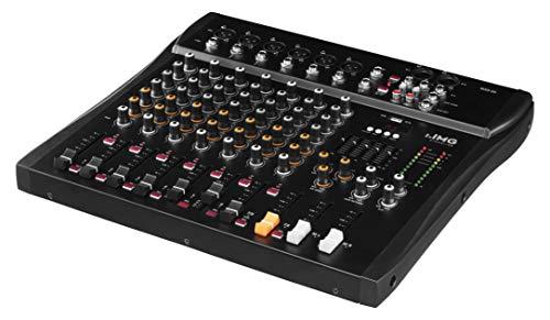 IMG STAGELINE MXR-80, 8-Kanal Audio-Mischpult mit integriertem MP3-Player und Bluetooth-Empfänger, Audio-Console mit 6 Mono-Eingangskanälen mit Gainregler, Mix-Pult in Schwarz