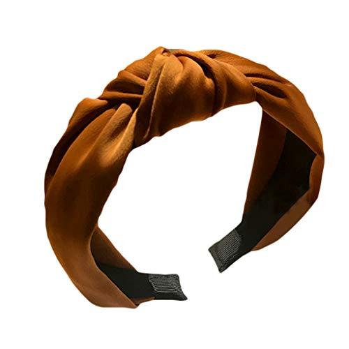 Yanhonin Damen-Haarband, gerafft, Haarband, geknüpft, Kreuz, Retro, Pailletten, lässig, Boho