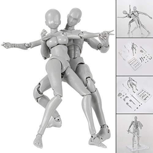 Espeedy Modell Actionfigur, 2.0 Actionfigur, Modell für SHF Body Kun Doll PVC Body-Chan DX Set-mit Unterstützungen: Hand, Füße, Schwert, Tasse, Eis, etc.