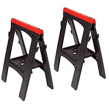 Performance Tool W54009 Heavy Duty Plastic Sawhorse Set (450 lb capacity, 900 lbs Total)