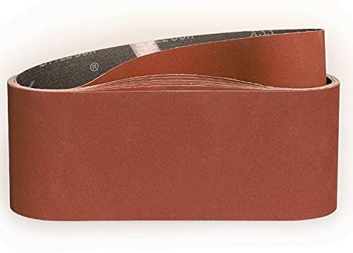 Bandas de Lija 100 x 610 mm-320 Granul 10 piezas,Bandas Para Lijadora Pared Para Madera Bandas Lijadora Metal-STEBRUAM