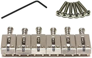 """Graph Tech String Saver PG-8000-00 - Classics Strat & Tele Style Saddles - 2 1/6"""" String Spacing - Brushed Steel Finish"""