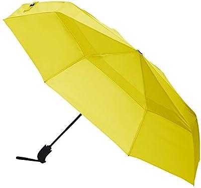 AmazonBasics Automatic Open Travel Umbrella with Wind Vent - Yellow