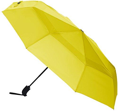 Paraguas amarillo cortavientos