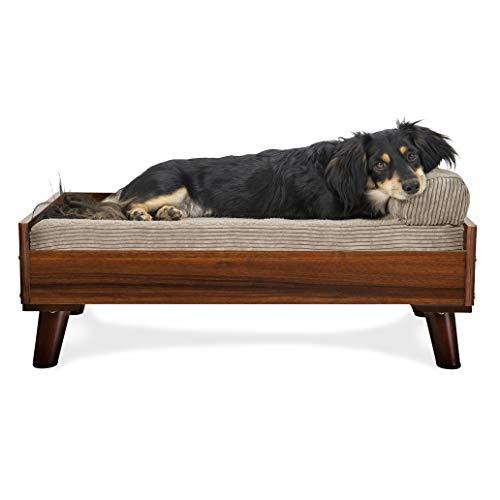 Furhaven Pet Dog Bed Frame - Mid-Century Modern Style Bed Frame Furniture...