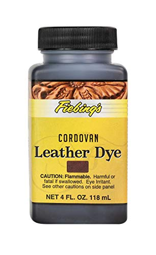 Fiebing's Leather Dye - Alcohol Based Permanent Leather Dye - 4 oz - Cordovan