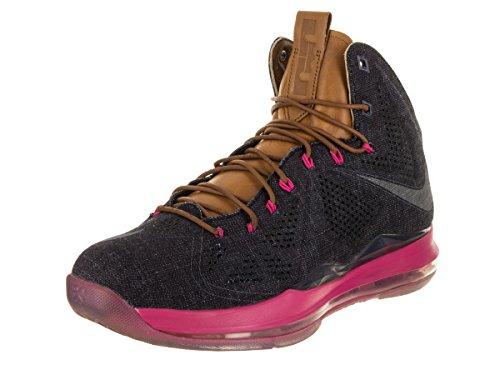 NIKE Zapatos de baloncesto Lebron X EXT Denim QS para hombre, (Azul marino), 45 EU