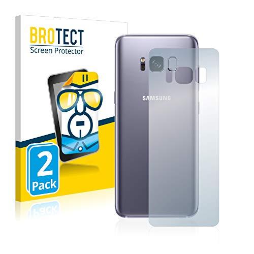 BROTECT Protector Pantalla Compatible con Samsung Galaxy S8 (Trasero) Protector Transparente (2 Unidades) Anti-Huellas