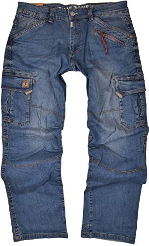 Timezone Herren Cargo Jeans Hose Benito TZ 3387 (W36/L32)