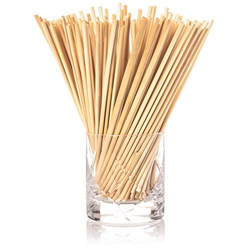 Cannucce di grano naturale, confezione da 100, prodotto ecologico biologico, lunghezza 20 cm, perfetto sostituto alla plastica