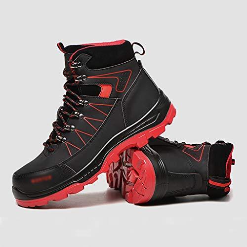Calzado de protección Zapatos de seguridad de cuero resistente al desgaste, zapatos de seguridad para hombres, zapatos de seguridad para hombres zapatos de trabajo de acero toe gorras de trabajo entre