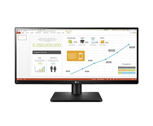 LG UltraWide 29UB67 29-inch Height Adjustable IPS Monitor (2560 x 1080, DVI, HDMI, DisplayPort, 300...