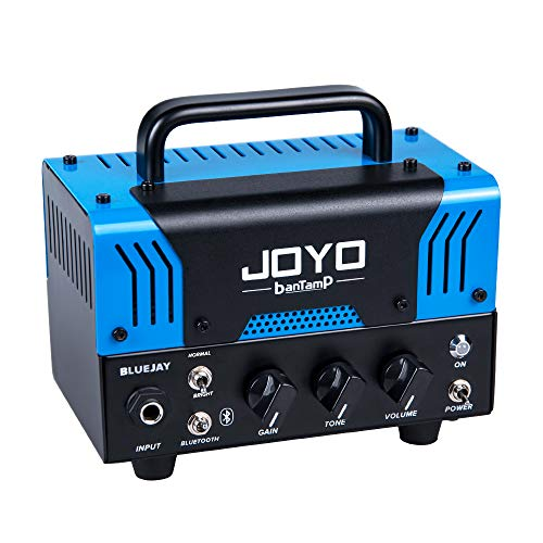 JOYO BLUEJAY (BLUES-JUNIOR) BanTamp Series Mini Amp Head 20 Watt Preamp 2 Channel Hybrid Tube Guitar Amplifier with Bluetooth
