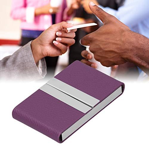 Organizador de tarjetas de visita, caja de tarjetas de presentación Portatarjetas de visita de gran capacidad Diseño ligero para amigos para hombres(Púrpura, 400#)