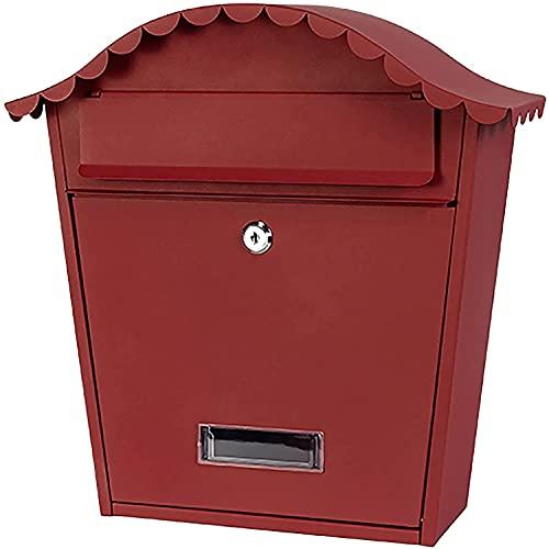 Qjkmgd Buzón montado en la Pared Smart Parcel Drop Box Metal Letterboxes con Cerradura de Llave Robusta Impermeable Fuera de la Caja Postal (Color : Style1)