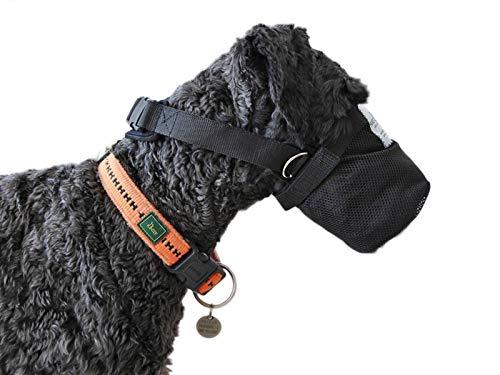 Giftköderschutz/Netzmaulkorb/Leckschutz bei Wunden/Sicherheitsnetz für Hunde aus Neopren Lange Ausführung (S)
