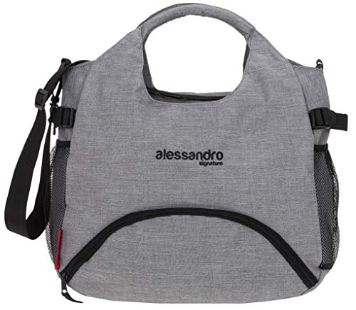 Alessandro Sporttasche Damen Fitnesstasche Percy Nassfach Mattenhalter Fitness Sport Tasche (Two Tone Grau (29))