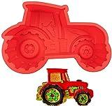 Molde para hornear , forma de tractor, para hornear tartas para cumpleaños infantiles, molde de de...