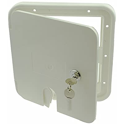 NUSET RV042 White Electrical Cable Hatch Lock with Key