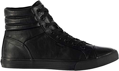 SoulCal Asti Herren Hi Top Turnschuhe Sportschuhe Freizeit Schnuer Sneaker Black/Black 9 (43)