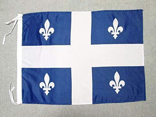 AZ FLAG Drapeau Québec 45x30cm - PAVILLON québécois - Canada 30 x 45 cm Haute qualité